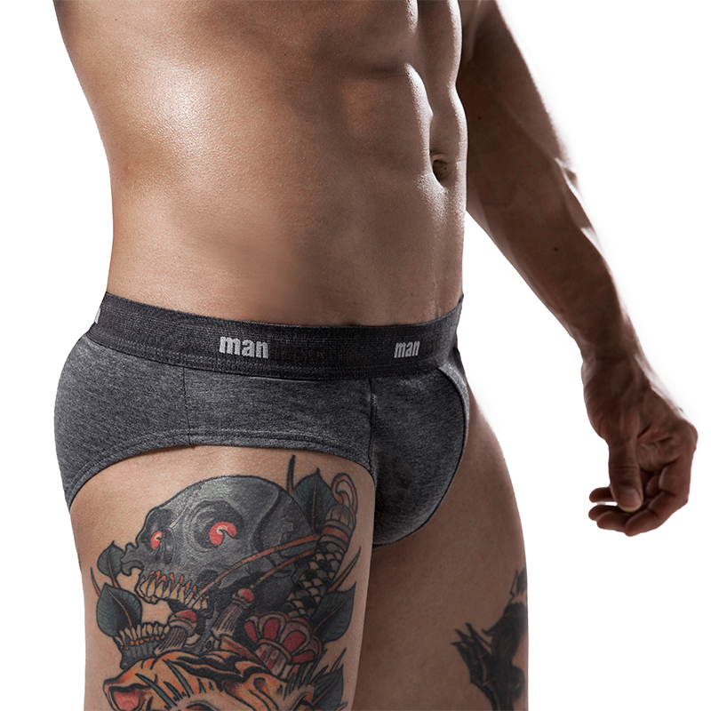 4PCS briefs men panties male cotton mens underpants  sexy men underwear specially male underwear male pouch