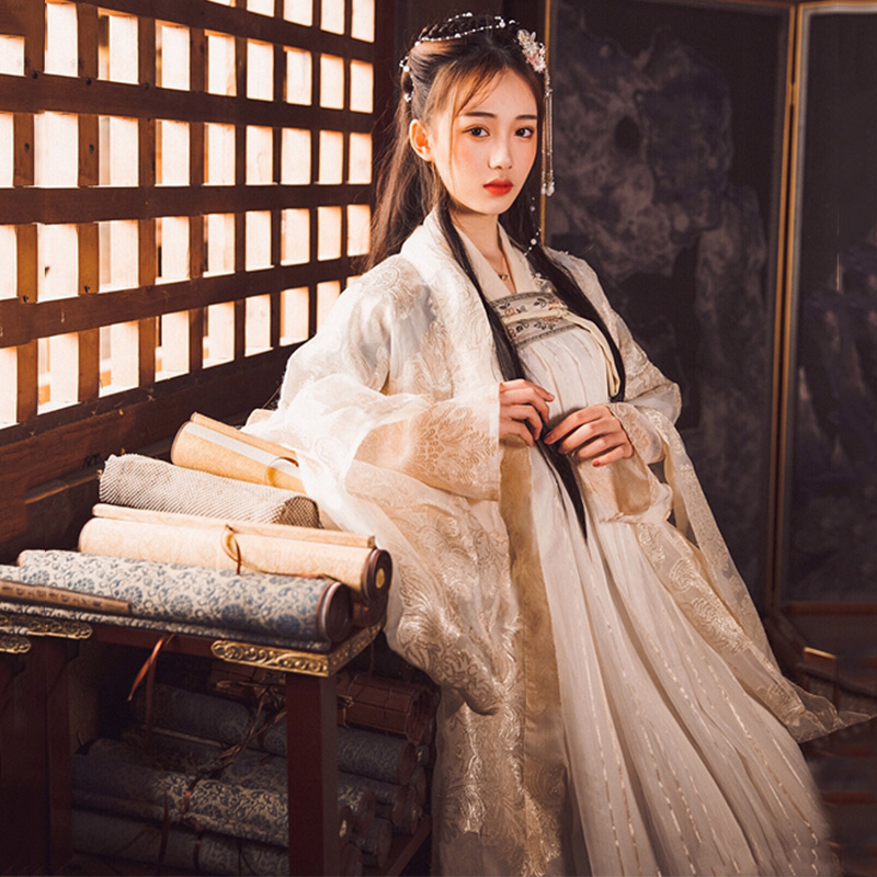 Hanfu Dance Costume For Women Chinese Traditional Singers Stage Wear Folk Festival Rave Outfit Oriental Performance Wear DC2347
