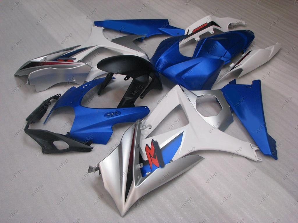 Full Body Kits GSX R1000 2008 Abs Fairing GSXR 1000 07 2007 - 2008 K7 White Blue Fairing GSXR1000 07