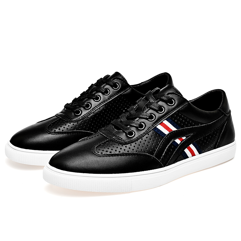 Mens casual Shoes leather cow men sneakers Designer Walking Office Driving shoe breathable Leisure Flats hollow