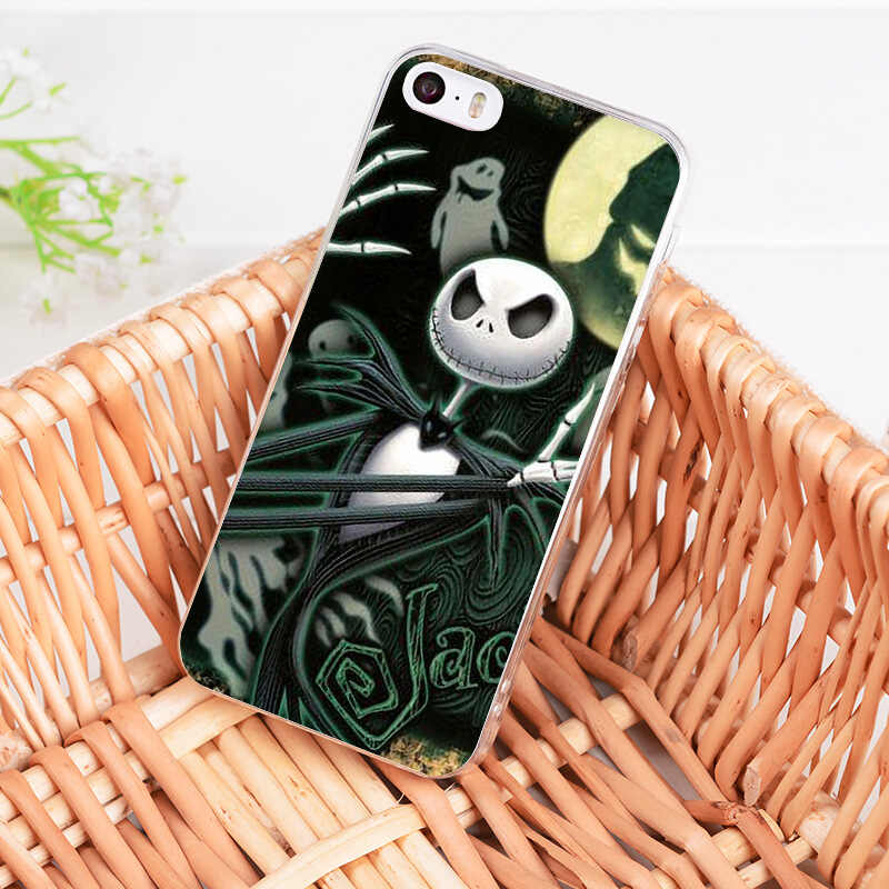 MaiYaCa Jack Skellington Funny Halloween expression Transparent phone case for iphone 11 Pro X 8 7 6 6S Plus 5 5S SE XS XR XSMAX