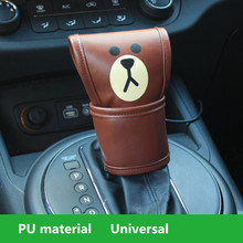 Car Leather Gear Shifter Cover, Hand Brake Cover