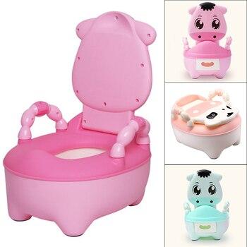 Orinal de bebé, asiento de entrenamiento para el baño, orinal de plástico portátil para niños, entrenador, orinal de interior para niños, silla de plástico para niños