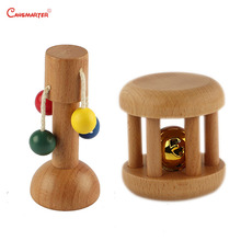 3-6 Months Baby Educational Toy Sensory Montessori  Toys Game Dollio Bell Home Beech Wood Brain Develop  Early Education LT068-3 montessori educationcolour contrast professional pack beech wood sensory toys early educational toys free shipping