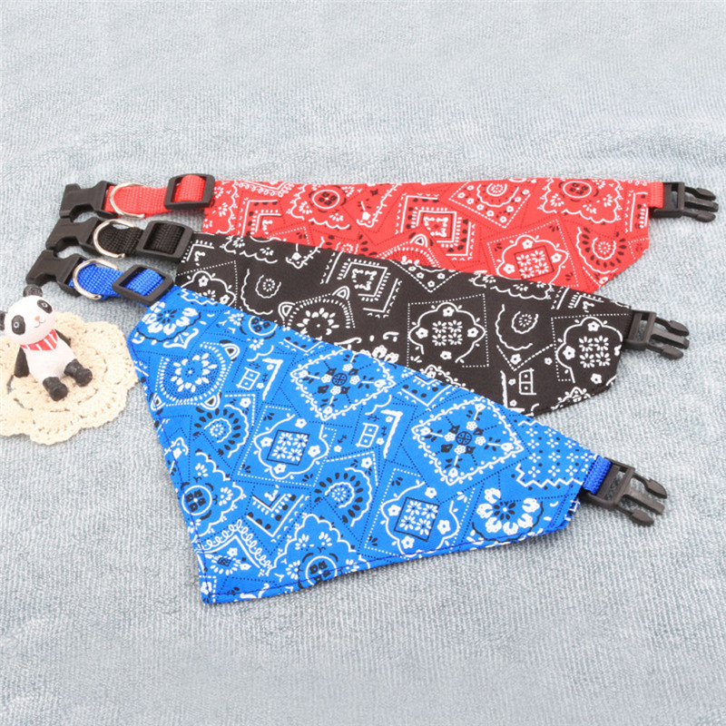 2019 Small Pet Collars Accessories New 1PC Adjustable Pet Dog Bandana Collar Puppy Cat Neck Scarf Neckerchief Beauty DROP #0711