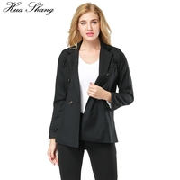 Hua Shang 2017 Spring Autumn Black Women Blazers And Jackets OL Women Office Jacket Female Business Suit Ladies Outerwear Coat