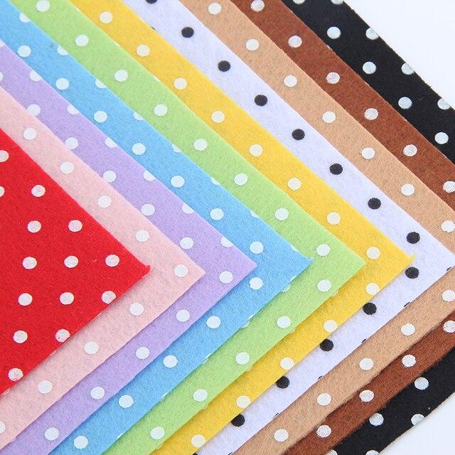 100% Polyester Circle Shape Felt Fabric Women Patchwork DIY Craft Sewing Toys Bag Home Decoration 10PCS/lot 15CM*15CM J-10S2