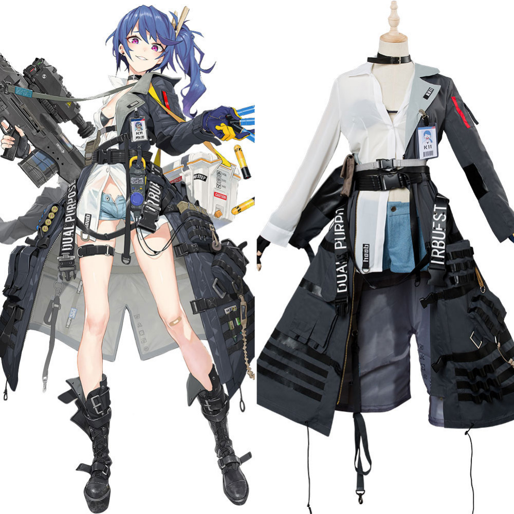 Video Game Girls' Frontline K11 Outfit Cosplay Costume Full Set Adult Halloween Cosplay For Women Girls