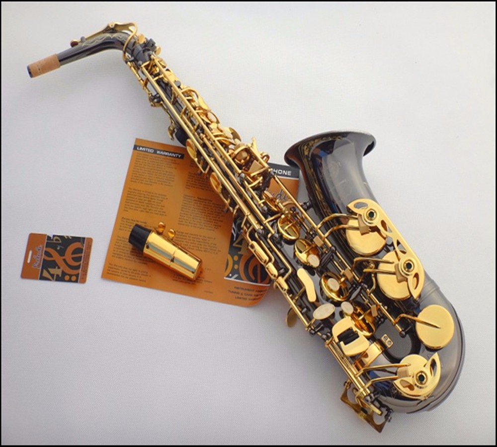 High Quality France Selmer / 54 E flat Alto Saxophone professional sax black nickel gold mouthpiece Top Musical Instruments alto saxophone selmer 54 brass silver gold key e flat musical instruments saxophone with cleaning brush cloth gloves cork strap