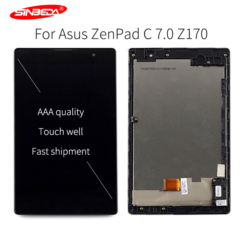 7Original LCD Tela For Asus ZenPad C 7.0 Z170 Z170CG Z170MG LCD Display Replacement Touch Screen Digitizer Assembly with Frame7Original LCD Tela For Asus ZenPad C 7.0 Z170 Z170CG Z170MG LCD Display Replacement Touch Screen Digitizer Assembly with Frame