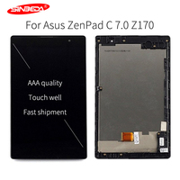 7Original LCD Tela For Asus ZenPad C 7.0 Z170 Z170CG Z170MG LCD Display Replacement Touch Screen Digitizer Assembly with Frame