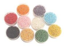 10000 шт стеклянные бусины 2 мм разных цветов в отдельных коробках