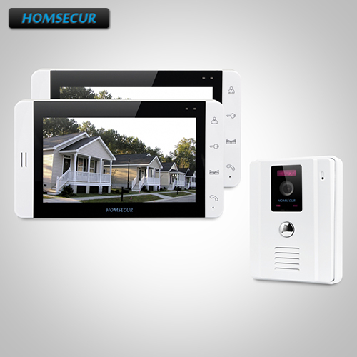 HOMSECUR 7 Hands-free Video Door Entry Security Intercom+White Monitor 1C2M TC011-W Camera (White) + TM703-W Monitor (White)