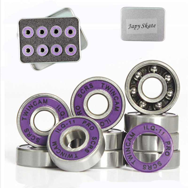 ILQ-11 Bearings Skates ABEC-11 Steel Sliding 608ZZ Deep-Groove 16pcs/Set Slalom Chrome