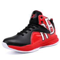 Kid Sneakers Boy Basketball Shoes Lace Up Children Shoes Sport Boots Blue Black Child Sneakers Sports Shoe Boys Girls