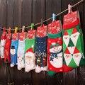 2016 Nuevo Navidad Calcetines Otoño Invierno Cálido Moda 100% Algodón Calcetines Muñeco de Nieve de Navidad Ciervos Copo de nieve de Diseño Calcetines de Las Mujeres
