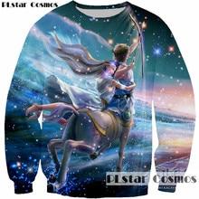 PLstar Cosmos 2017 New Design Animal Unicorn Lovers Archery 3D Print Sweatshirt Women/Men Casual Pullovers Sweatshirts Tops Plus