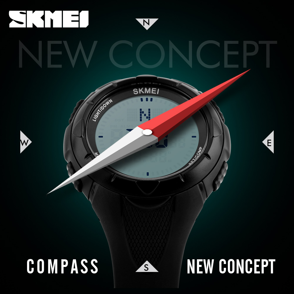 Compass Sport Watch SKMEI Brand Waterproof Outdoor Summer Time - Men's Watches