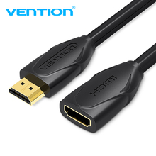 Vention HDMI Extension Cable 1m 1.5m 2m 3m 5m Male To Female Extender HDMI Cable 1080P 3D 1.4V For HDTV LCD Laptop PS3 Projector