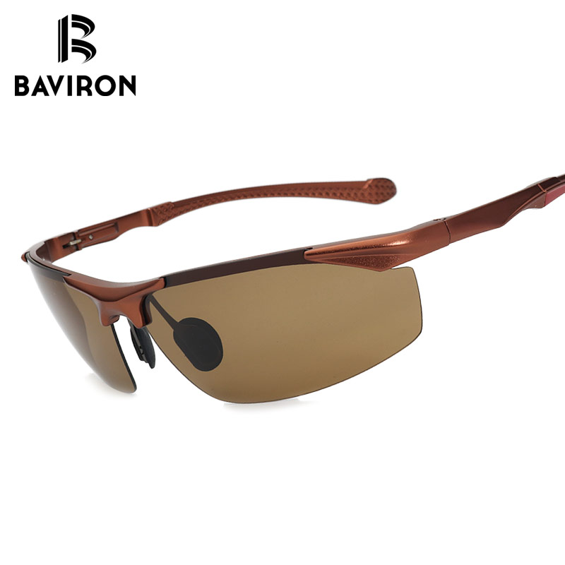 3623a9016c8 BAVIRON Cool Driving Frameless Men Sunglasses Al Mg Frame Polarized Glasses  Anti Reflection Hot Popular Square UV400 Sun Glasses-in Sunglasses from  Men s ...