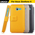 for asus zenfone 4 flip case For Asus Zenfone4 Zenfone 4 A400CG luxury leather phone case cover IMUCA Mobile Phone Accessories