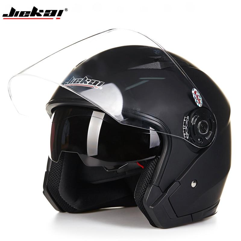 DOT Certified Open Motorcycle Helmets Cross Country Helmets Bike Double Lens Visor Mirro ...