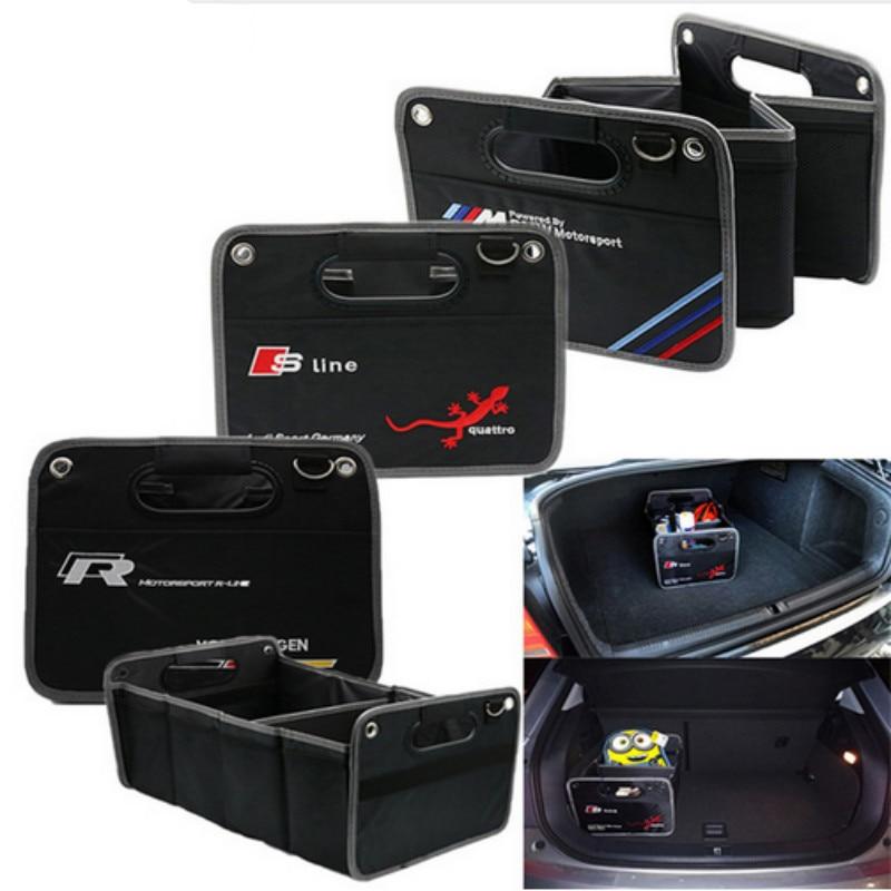 1x Trunk box Big Storage Bag For Audi Sline S line Quattro A4 A5 A6 A7 A8 TT S4 S3 S5 S6 S7 S8 TT Q3 Q5 7 A1 B5 B6 B7 B8 C5 C6 radiator cooling fan relay control module for audi a6 c6 s6 4f0959501g 4f0959501c