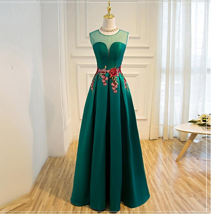 Suosikki nieuwe prom dress lange vestidos de festa a-lijn bloem cap - Jurken voor bijzondere gelegenheden - Foto 6