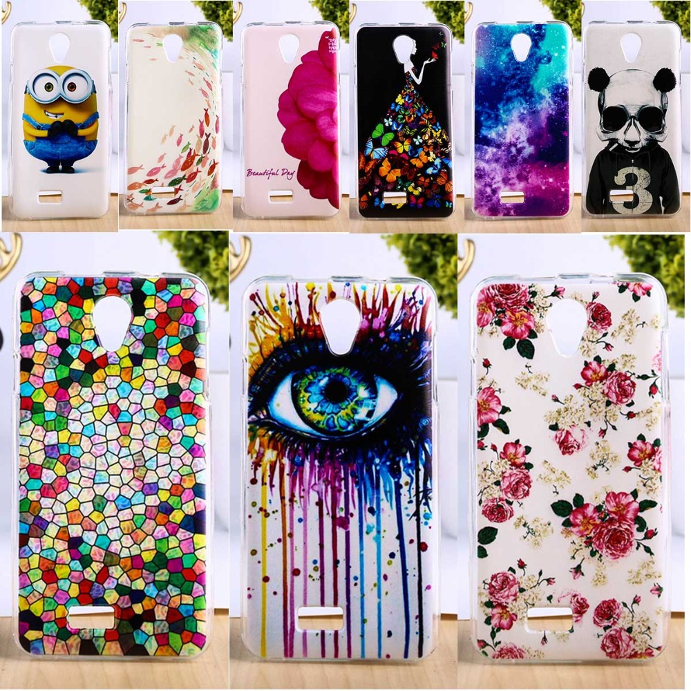 TAOYUNXI DIY Painted TPU Phone Cover For Fly iq4416 iq 4416 era life 5 life5 Cases Phone Shells Hoods Accessories