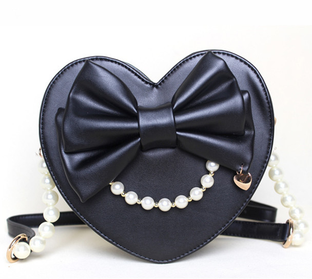 2015 spring and summer heart shape HARAJUKU lolita bag pearl women s  handbag small cross body bag-in Crossbody Bags from Luggage   Bags on  Aliexpress.com ...