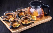 Tetera Juego de Té de Vidrio 4 unids Teaport Botella de Agua Taza de Té Tetera de Té Infusor Tetera de Cristal Tetera de Cristal.