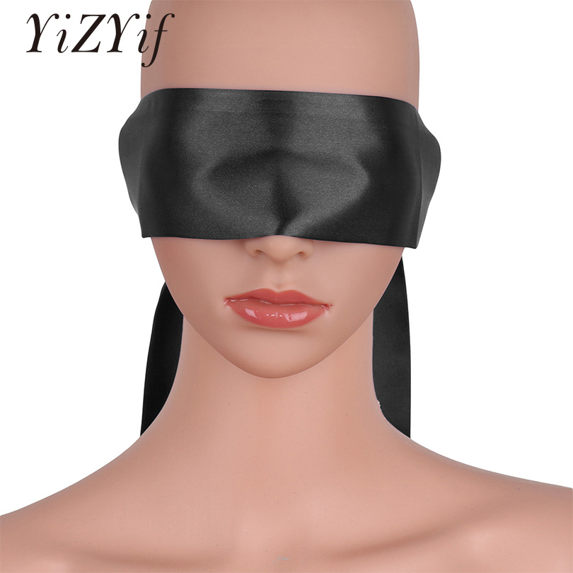 YiZYiF Sexy Eye Mask Unisex Lingerie Satin Blindfold Eye Mask Band Ties Bondage for lingerie night or self pleasure accessories