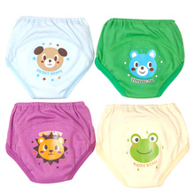4 PCS/Lot Potty Training Pants Baby Learning Underwear Nappies for Toddler Boy Girl Panties Reusable Washable Cotton Diapers