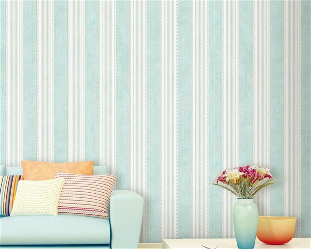 beibehang European style retro striped wallpaper bedroom living room aisle cafe blue coffee nonwoven papel de parede wall paper beibehang wallpaper blackboard geometric mathematical formula style wallpaper living room room cafe black white wallpaper roll