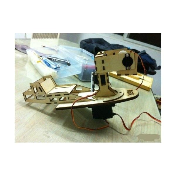 3-Axis Wooden Gopro Gimbal Pan/Tilt/Roll Pod Kit for Skywalker 1680/1880 Condor(dampings included)