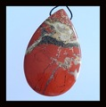 Red River Jasper Pendant Bead,47x28x9mm,18.5g