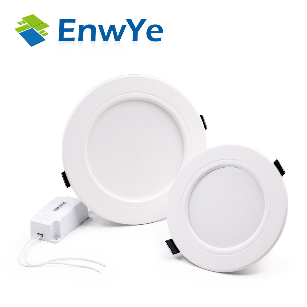 EnwYe White high power led downlights Ceiling lamp 5730SMD 10W 15W 20W 110v 220V 230V 240V AC IC led lamp led light