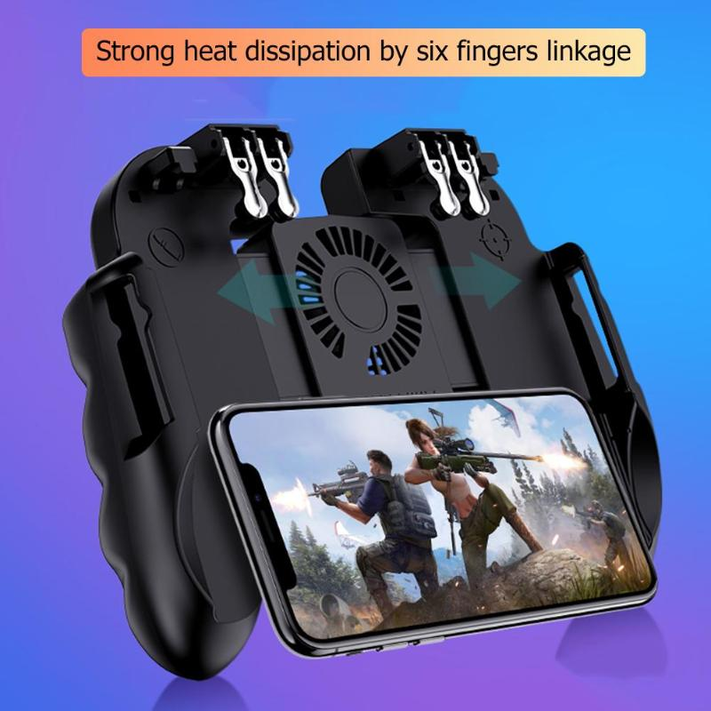H9 Mobile Phone Game Handle Controller Supporting smartphones with 4.7-6.0 inch Screen <font><b>Joystick</b></font> Trigger Gamepad for <font><b>PUBG</b></font> Games image