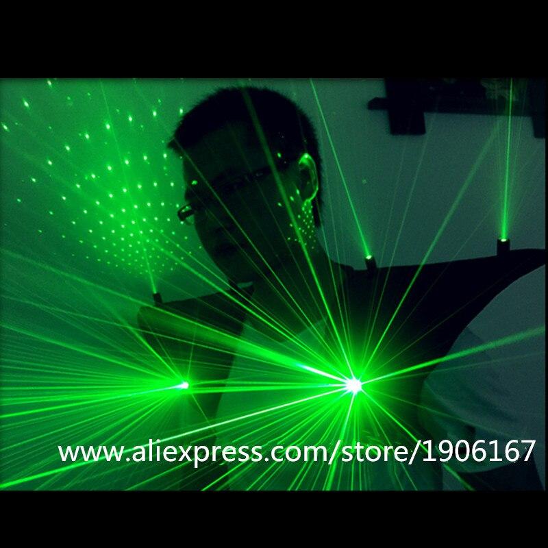 새로운 도착 녹색 Laserman 정장 LED 조끼 빛나는 양복 조끼 532nm 100mW 녹색 레이저 남자 의상 옷 레이저 쇼 파티