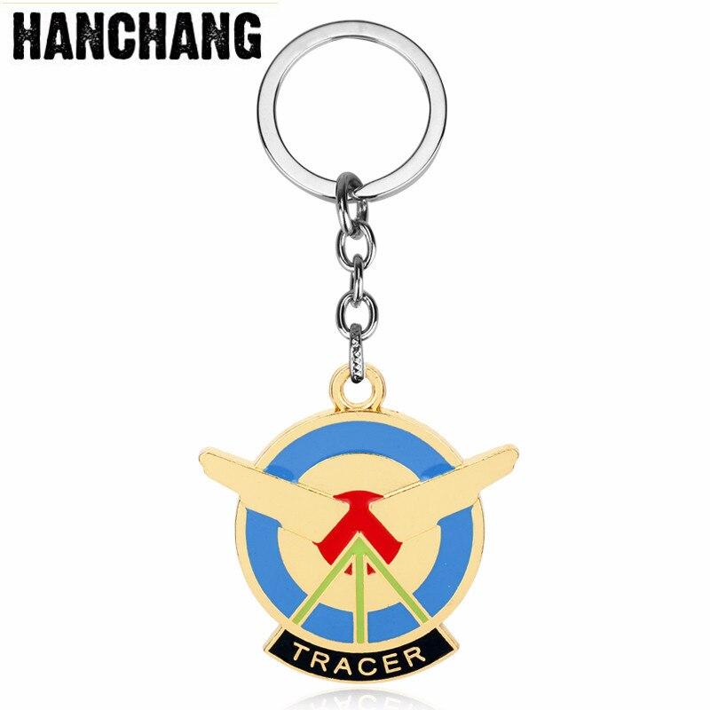Game Overwatch Keychain Anime Metal Pendant Keychain Keyring Men Car Key Holder Accessories Gift