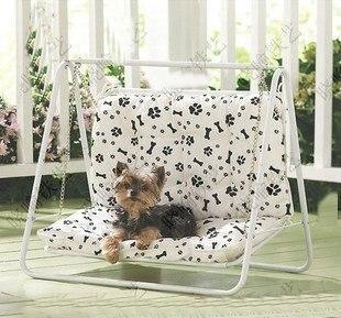 Creative Wrought Iron Pet Bed Dog Nest Kennel Cat Litter Garden Swing