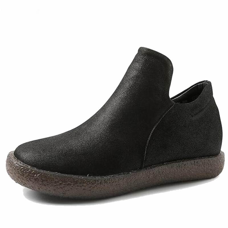 En Nouvelle Fur D'hiver Casual Femme Fur With Cuir Peluche Arrivée Véritable Chaussures Appartements brown Cheville De Neige Femmes Chaud Black Bottes Courtes FExqHww0