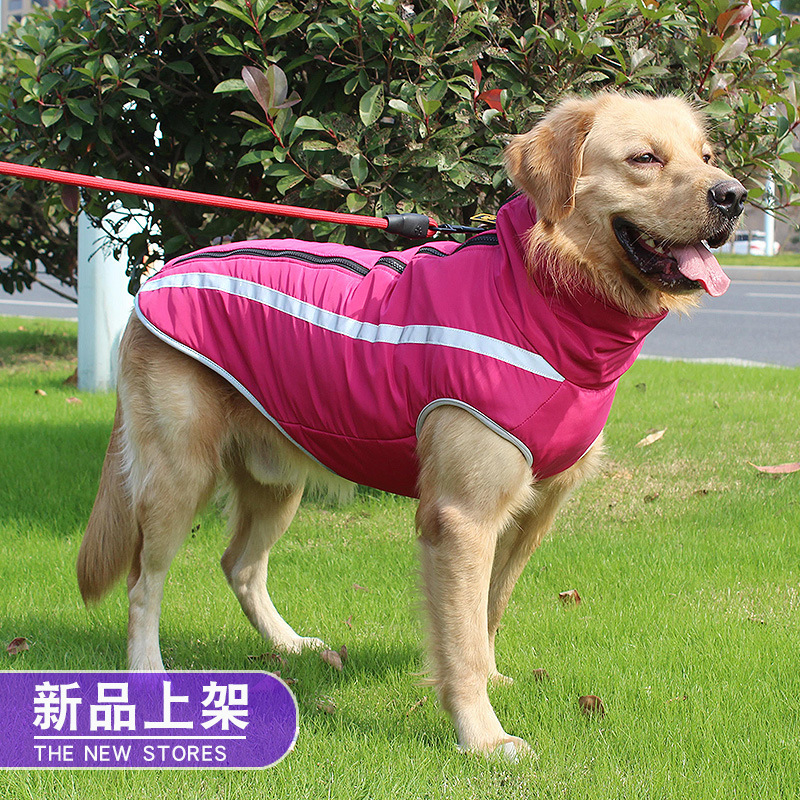 Large Dog Raincoat Waterproof Dog Poncho Vest For Big Dogs Outdoor Pet Autumn Vest Rain Cap Blue Golden Retriever Husky WLYANG