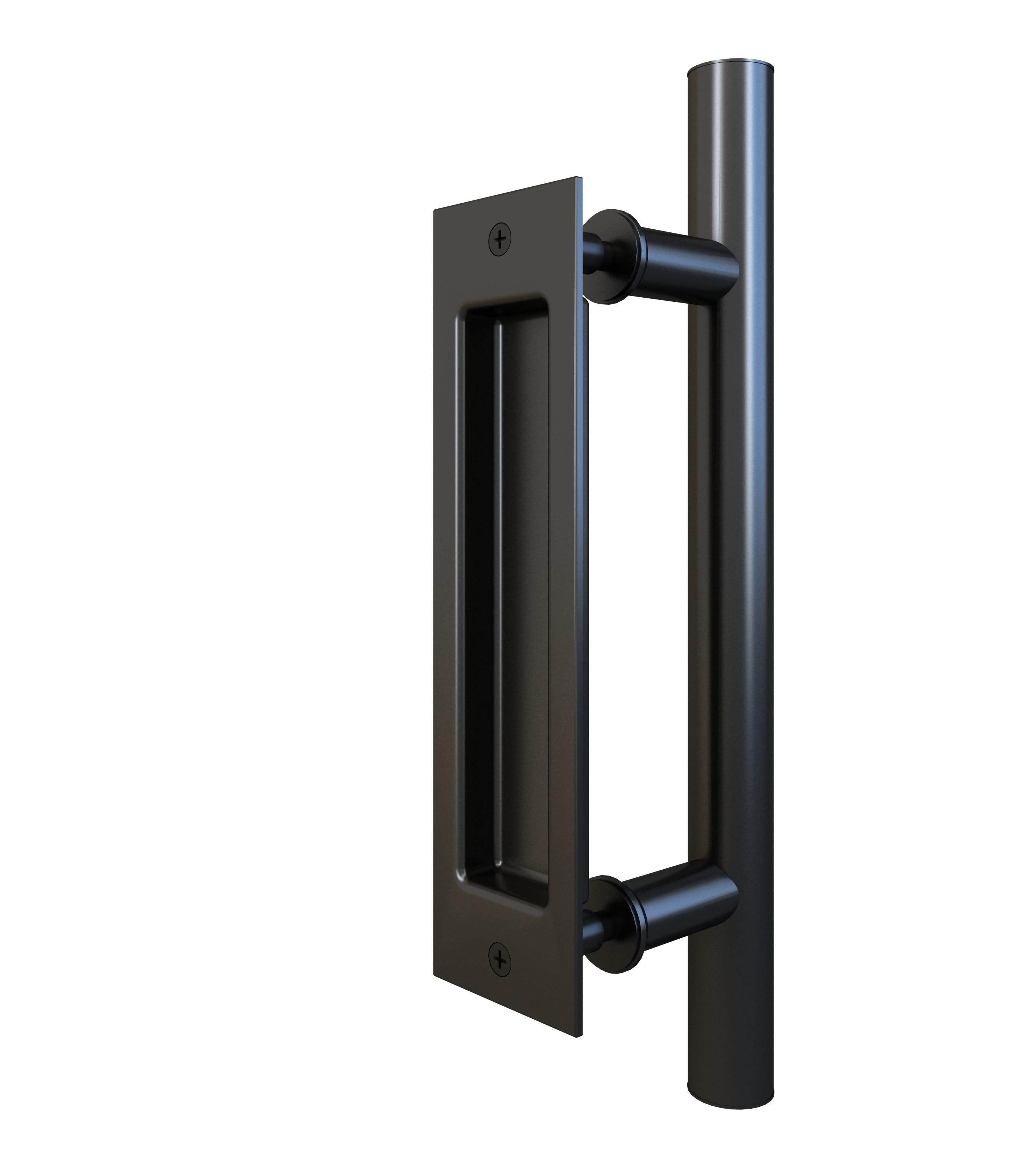 DIYHD 12 дюймовая гладкая дверь для амбара, двухсторонняя черная ручка, вытяжка Ручка для двери      АлиЭкспресс