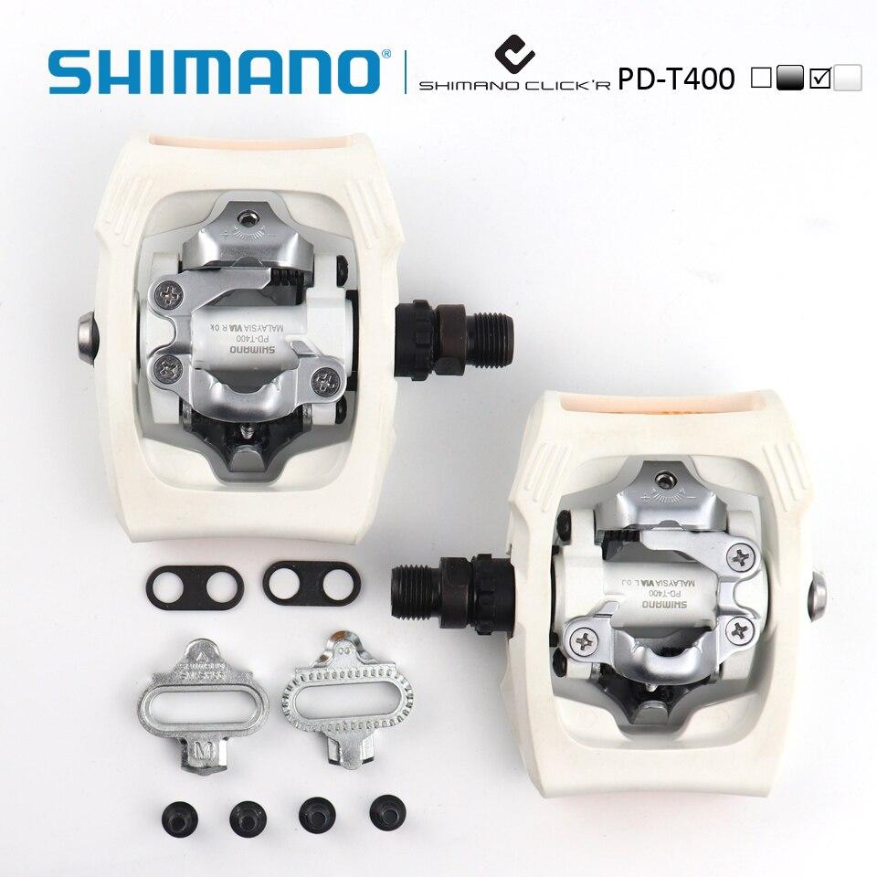 Shimano PD-T400 Click'R SPD pédale avec plaques SM-SH56 ville/vélo de tourisme vélo auto-bloquant pédales - 4
