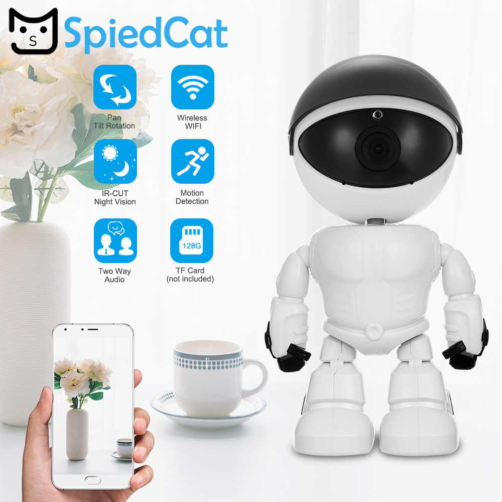 HD 1080P WiFi Robot IP mini Camera Pan Tilt Security WiFi Camera Support P2P Night vision Motion Detection Two way Audio