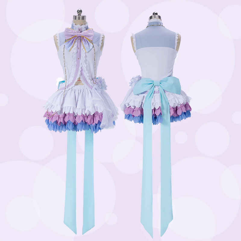 Love Live Nico Yazawa white Valentine's Day ver cos Dress Cosplay Costume Niconiconi~