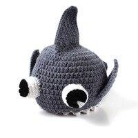 Yenidoğan Bebek El Yapımı Şapka Oğlan Kız Shark Örme Tığ Fotoğraf Sahne Bebek Kap Bebek Şapka