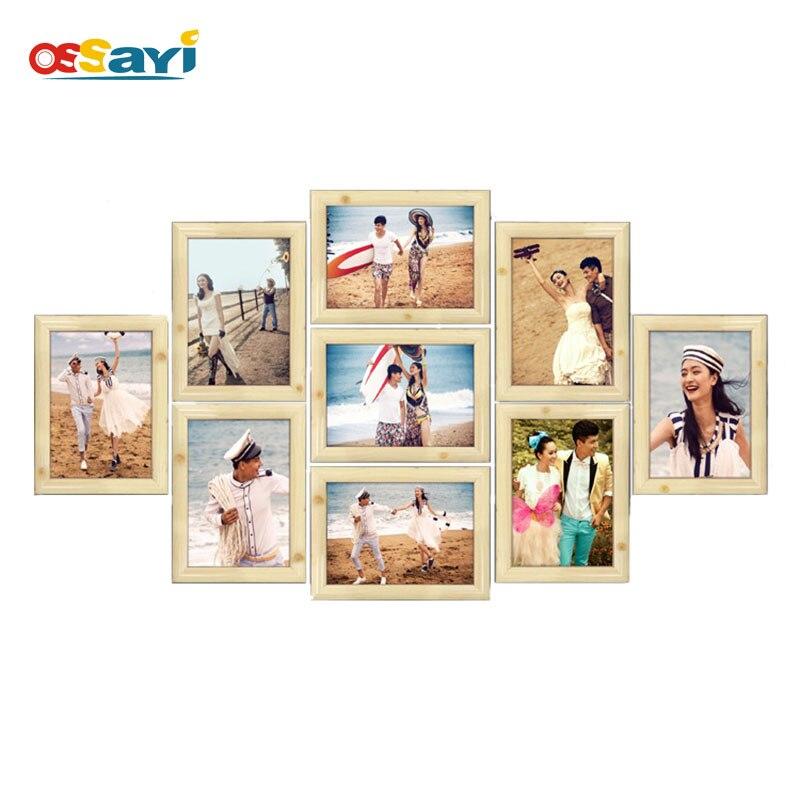 Multi-cadre Photo cadre mural Haning famille cadre Photo ensemble moderne décor à la maison cadeaux de mariage cadre fond mur