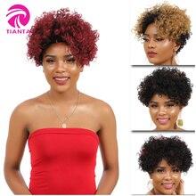 TIANTAI Бразильские Короткие Вьющиеся Парики Боба Короткие Парики Человеческих Волос для Женщин